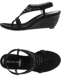 Anne Klein Thong Sandal black - Lyst
