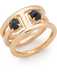 Rebecca Minkoff - Stone Puzzle Rings - Lyst