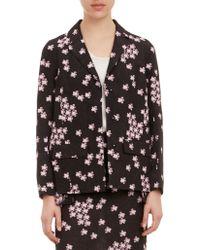 Marni Floralprint Pleated Back Jacket - Lyst