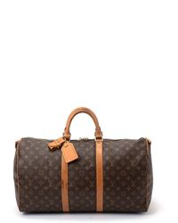 Louis Vuitton Brown Keepall 50 Bag - Lyst