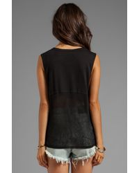 Blessed Are The Meek - Moon Tank in Black - Lyst