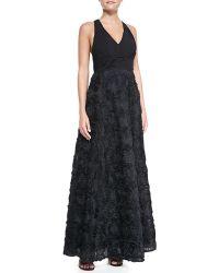 Aidan By Aidan Mattox Halter Floral Skirt Gown - Lyst