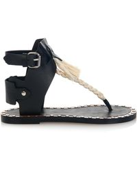5bd0aaadfa5d Isabel Marant - Jep Rope And Leather Sandals - Lyst
