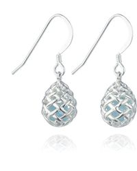 Kinnari | Silver Small Egg Earrings With Blue Topaz | Lyst