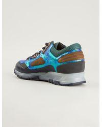 Lanvin Metallic Panel Sneakers - Lyst
