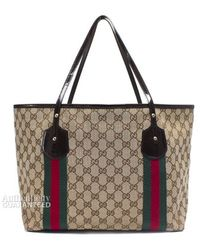 Gucci Pre-owned Webbed Large Jolie Tote Bag - Lyst
