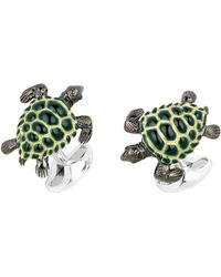 Deakin & Francis Turtle Sterling Silver Cuff Links - Lyst