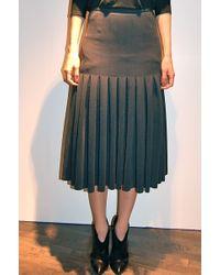 Yigal Azrouel Box Pleat Skirt Fern - Lyst