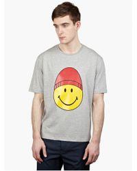AMI Men'S Smiley Print T-Shirt - Lyst