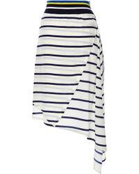 Preen Printed Silk Cdc Turkana Skirt in Ivory Breton - Lyst