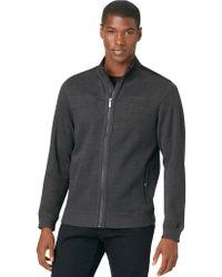 Calvin Klein Zip Up Sweater - Lyst