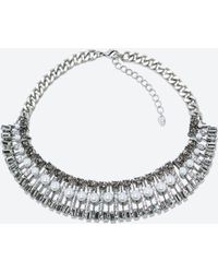 Zara Silver Pearl Necklace - Lyst