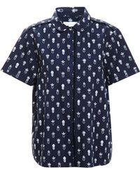 Chinti & Parker Short Sleeved Shirt With Pineapple Print - Lyst