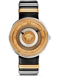 Versace Vmetal Rose Gold Black Dial Watch 40mm - Lyst