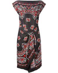 Moschino Paisley Dress - Lyst