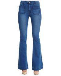 Hudson Taylor Flared High-Waisted Stretch-Denim Jeans - Lyst