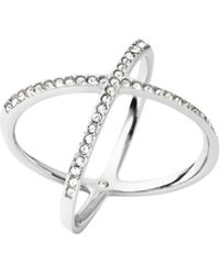 Michael Kors Pave Crystal X Ring - Lyst