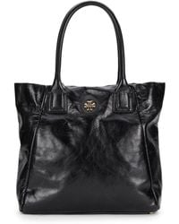 Tory Burch Leather City Tote - Lyst