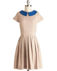 ModCloth Taking The Train Dress - Lyst