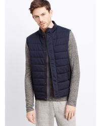 Vince Quilted Jersey Vest - Lyst
