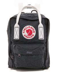 Fjallraven Kanken Mini Backpack  Navywhite - Lyst