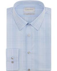 Calvin Klein Tonal Plaid Slim Fit Dress Shirt - Lyst