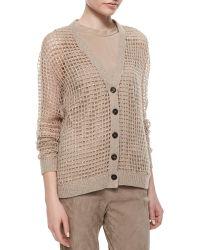 Brunello Cucinelli Luxury Knit Cashmere Sequin Cardigan - Lyst