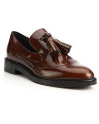 Burberry | Falsmoor Tasseled Leather Loafers | Lyst