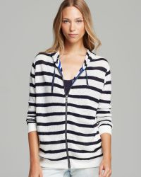 Two By Vince Camuto - Stripe Lace Inset Hoodie - Lyst