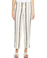 Tory Burch Carrie Pants - Birchmed Navy - Lyst