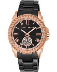 Vince Camuto - Women'S Black Ceramic Bracelet Watch 43Mm Vc/5190Rgbk - Lyst
