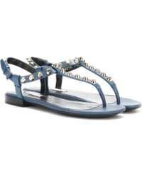 Balenciaga Classic Screw Studded Leather Sandals - Lyst