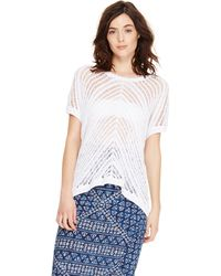 DKNY Jeans Open Stitch Pullover - Lyst