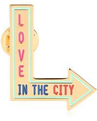 Maria Francesca Pepe City Skyline Pin - Lyst