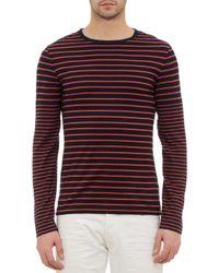 Ralph Lauren Black Label Denim Striped Longsleeve Tshirt - Lyst