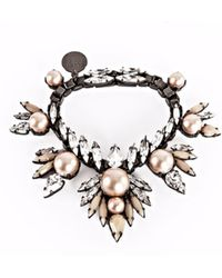 Ellen Conde - Powder Pink Pearl And Crystal Bracelet - Lyst