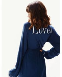 Wildfox Couture Wildfox Never Get Dressed Robe in Navy - Lyst