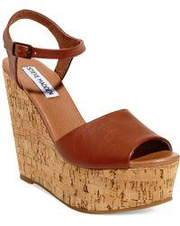 Steve Madden Women'S Korkey Two-Piece Platform Wedge Sandals - Lyst