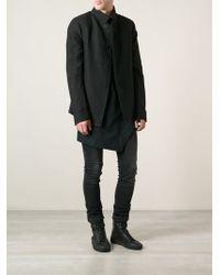 Lost & Found - High Standing Collar Blazer - Lyst