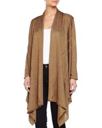 Donna Karan New York Cozy Drape-front Sweater - Lyst