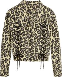 Sibling - Leopard-print Denim Jacket - Lyst