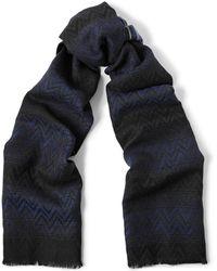 Missoni Reversible Patterned Wool Scarf - Lyst