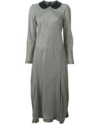 Comme des Garçons Gingham Print Dress - Lyst