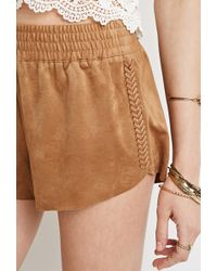 Forever 21 Whipstitched Shorts - Lyst