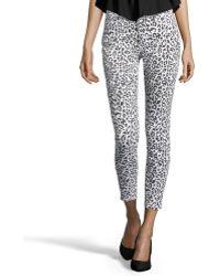 CJ by Cookie Johnson - Snow Leopard Print Stretch Denim 'wisdom Ankle Skinny' Jeans - Lyst