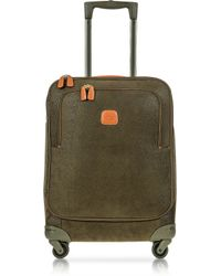 Bric's Life Olive Green Micro Suede Small Trolley - Lyst