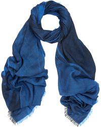 Balenciaga Blue Salon Jacquard Scarf - Lyst