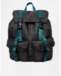 Asos Oversized Backpack with Contrast Straps - Lyst