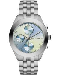 Marc By Marc Jacobs Peeker Stainless Steel Chronograph Bracelet Watch/Blue - Lyst