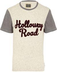 River Island Ecru Holloway Road Colour Block T-shirt - Lyst